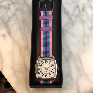 Pink multi colored watch